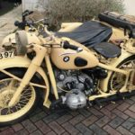 GERMAN WW2 BMW MOTORCYCLE & SIDECAR (FB721)