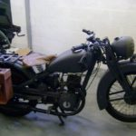 GERMAN WWII MOTORCYCLE (MJ083)
