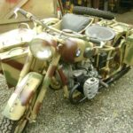 WWII GERMAN BMW MOTORCYCLE & SIDE CAR (MJ080)